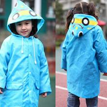 Super Cute Kids Raincoat Cartoon Candy Color Polyester Children Rain Wear Waterproof Rain Suit Free Shipping