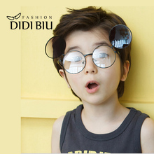 DIDI 2017 Hippie Kids Clip On Sunglasses For Prescription Glasses Fit Over Small Round Eyewear Punk Star Lunette Enfant C668(China)
