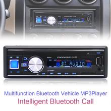 1068 1Din 12V High Definition Car Radio Stereo Player Bluetooth FM Radio Support AUX / MP3 / USB / SD Card with Remote Control(China)