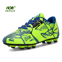 YILINGYI Sport Soccer Shoes Turf Football Shoes for Sale Breathable 3 Colors Outdoor Football Boot Original Sneaker ZQX005