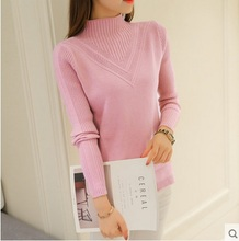 2017 Women's Wool Cashmere Sweater Female Plus pink Warm sweaters Autumn And Winter Fashion Knitting women oversized Pullover(China)