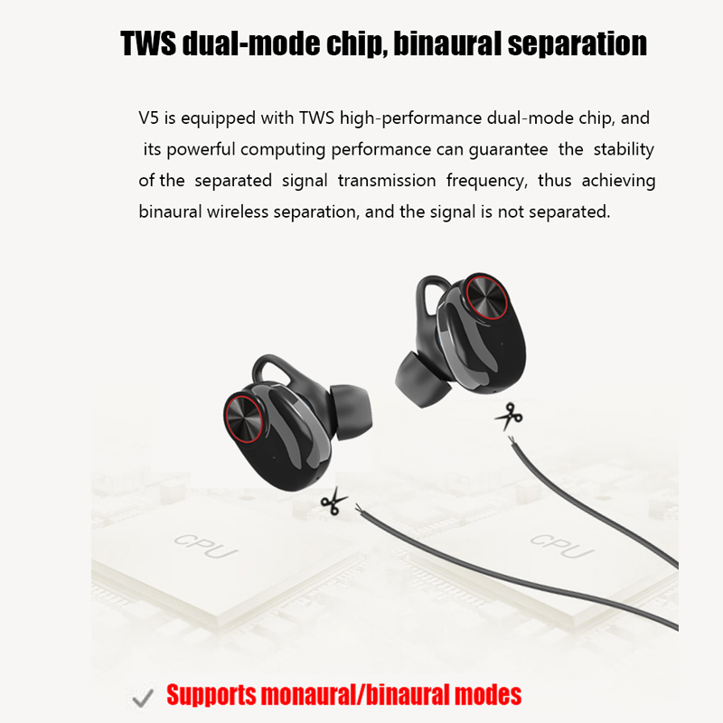 XLSTO Wireless Bluetooth Headphones Sport Earbuds TWS Earphone with Microphone Charging Box Subwoofer audifonos for Mobile Phone (4)