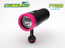 Free Shiping by DHL! Scubalamp PV32S Underwater photography light rechargeable video light spot light  Red/UV flashlight