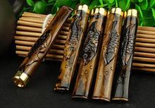 Jane diao sea willow carving cigarette holder by hand Can clean sea willow filter cigarette holder(China)