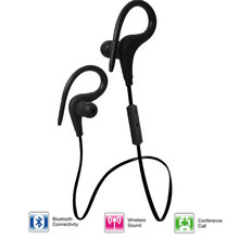 Waterproof cordless hands free earphone bluetooth wireless sports headset Micro earpiece for mobile phone stereo earbuds(China)
