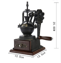 Timemore vintage hand grinder solid coffee bean grinding machine coffe tools Coffee mill cast iron wood materials mills