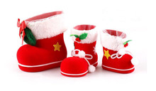 Christmas Decoration Gift Creative Christmas products Christmas flocking boots  Pencil and candy gift boots