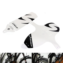 TOMOUNT Fender Cycling Mountain Bike Bicycle Front Rear Mud Guards Mudguard Fenders 27g PP Black White Cycling Aupply(China)