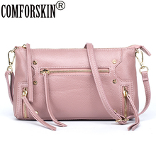 COMFORSKIN Women Messenger Bags Premium Designer Real Leather European And American Soft Stylish Travelling Shoulder Bags 2017(China)