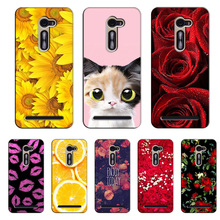 Popular Cover for Asus Zenfone 2 5.0inch Colorful Printing Case Flower Stylish Fashion for Asus Zenfone ZE500CL case cover Shell