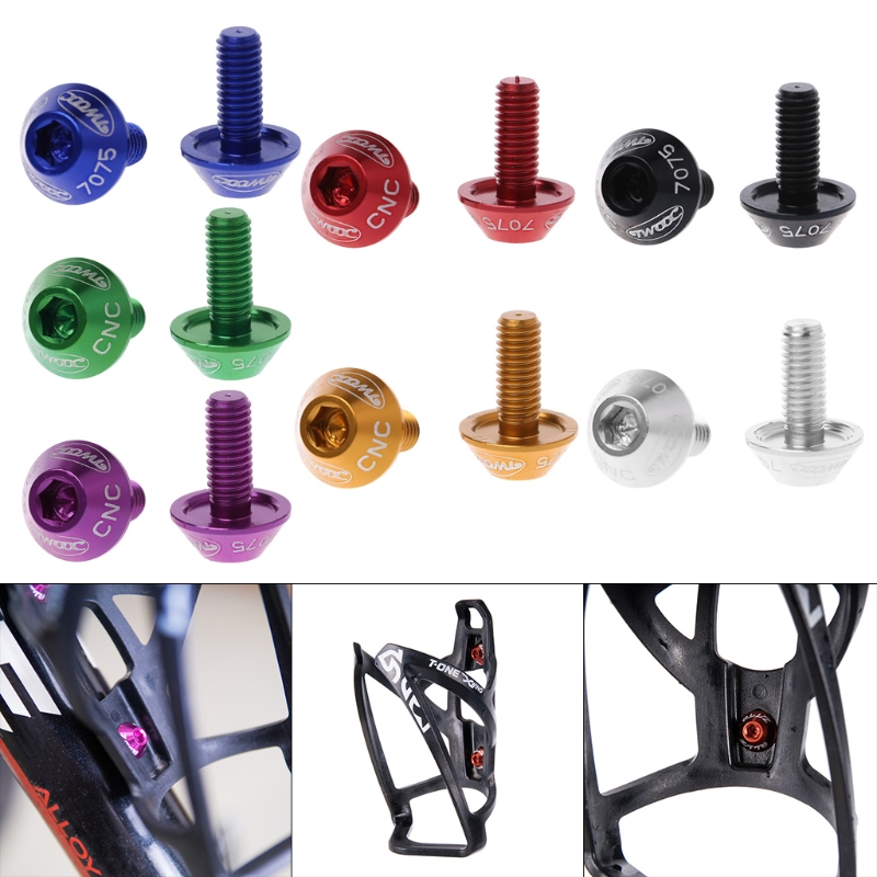 x2 New Bike Pump Mount Water Bottle Cage Bolt w// Washer Screws Road MTB Black
