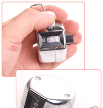 free shipping Chrome metal Counter 4-Digit Clicker Hand Tally Golf(China)