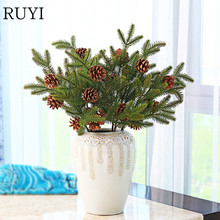 Christmas decoration pine needles Really dry fruit artificial plants Pine nuts for home christmas decoration flower bouquet 1pcs(China)