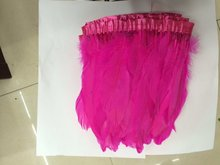 Sales 1 yard beautiful duck feather rose cloth Size: 12-15 cm
