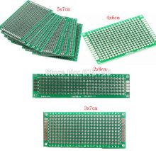 4PCS/LOT 5x7 4x6 3x7 2x8 CM Double Side Copper Prototype PCB Universal Board Experimental Development Plate For Arduino