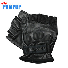 2016 Fshion Military Men Tactical Gloves Men's Outdoor Sport Bicycle Fitness Gloves Mitts Male Half Finger Leather Mittens