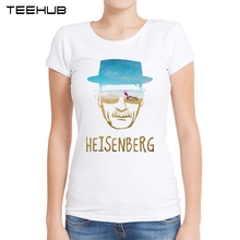 Heisenberg Women T Shirts Short Sleeve Fashion O-Neck T-Shirt Breaking Bad Printing Lady Tops Funny Casual Slim Tee(China)