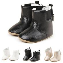 Baby boy winter boots for girls home shoes Infant PU Suede Leather Soft Soled Non-slip Footwear Crib Shoes Prewalkers R4(China)