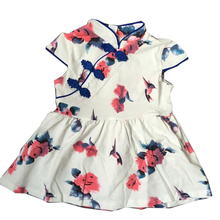 New Adorable Infant Baby Girls Dress Toddler Baby Girls Summer Flower Printed Dress Kids Girls Chinese Dress Cheongsam Clothes