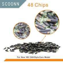50pcs/lot ID48 auto transponder chip ID 48 Car Key Chip 48 glass tube for VW for AUDI for Passat for Skoda for Golf(China)