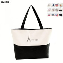 2017 fashion Handbag Canvas Woman Shopping Bag Women Cheap Hand Bags Beach Bag Canvas Tote Bags Shoulder Sac a Main(China)