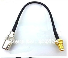 10pcs/lot  RCA Female plug to SMA Female JACK pigtail cable antenna extension assembly 15cm