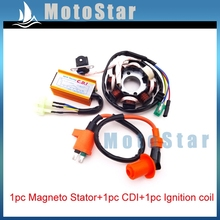 Scooter Racing Magneto Stator Racing Ignition Coil  6 Pins Wires AC CDI Box For Chinese GY6 125cc 150cc Engine ATV Quad Moped
