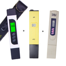 LCD display EC TDS meter with backlight +ph tester ATC + tds monitor ppm Stick Water Purity water quality test 15% off(China)