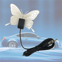 Butterfly Shaped Car Electronic AM / FM Antenna Radio Antenna