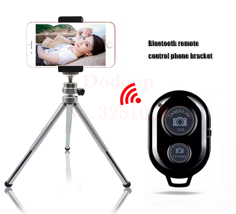 FGHGF Bluetooth Remote Tripod Bracket For iPhone Mini Portable Mount Monopod Extendable Camera Stand Universal Phone Tripods
