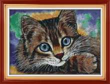 Big Size Cat Needlework DIY wall hanging cross stitch 11CT&14CT Counted embroidery kit innovation items home decor
