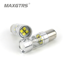 New High Bright S25 BA15S 1156 100W CREE Chip XBD LED Reverse Lights Fog Lamp P21W DRL Daytime Running Light Stop Backup Lights