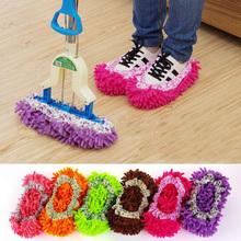 1 PCS Womens Indoor Dust Cleaner Slippers House Bathroom Floor Cleaning Mop Cleaner Slipper Shoes Lazy Home Shoes aa0441