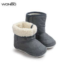 Wonbo 7Colors New Newborn Baby Infant Toddler Prewalkers Soft Rubber Soled Shoes Boots Children Boy Girls Booties Booty(China)