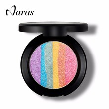 MISS YIFI Brand 6 Colors Rainbow light rainbow Eyeshadow Blush Baking Powder Makeup Palette Shimmer  Bronzer & Highlighter 428