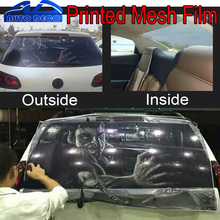 Car Rear Window Glass Printed Styling Film Rear Windshield One Way Vision Mesh Film Tint 127*70cm/roll