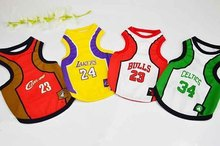 New 2016 spring and Summer Fashion Sports Basketball dog clothes costume Chihuahua pet dog clothing cool dog shirt vest C64(China)