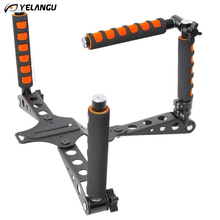 "Buy YELANGU Canon Nikon Lumix Foldable Shoulder Rig Mount DSLR Stabilizer Pentax Olympus 1/4"" Screw Multifunctional Handles for $46.99 in AliExpress store"