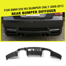 Car-Styling Carbon Fiber Auto Rear Lip Diffuser For BMW E92 M3 2008 - 2013 Convertible Add On Style