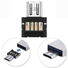 Hot Sale Mini USB 2.0 Micro USB OTG Electronic Charger Converter Adapter Cellphone TO US Free Shipping Puscard(China)
