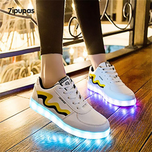 7ipupas usb charging casual kids shoes led luminous sneakers boys girls light up shoes glowing sneakers Lighting tenis masculino(China)