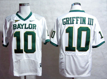 NIKE Baylor Bears Robert Giffin III 10 White Pro Combat College Ice Hockey Jerseys Size M,L,XL,2XL,3XL(China)