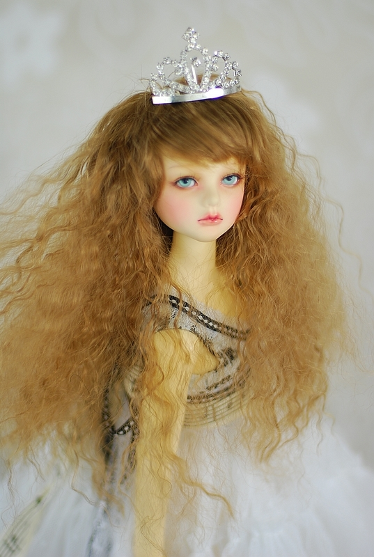 1/3 1/4 1/6 BJD Doll wig fairy tale princess small volume wig shallow brown gold jerryberry<br>