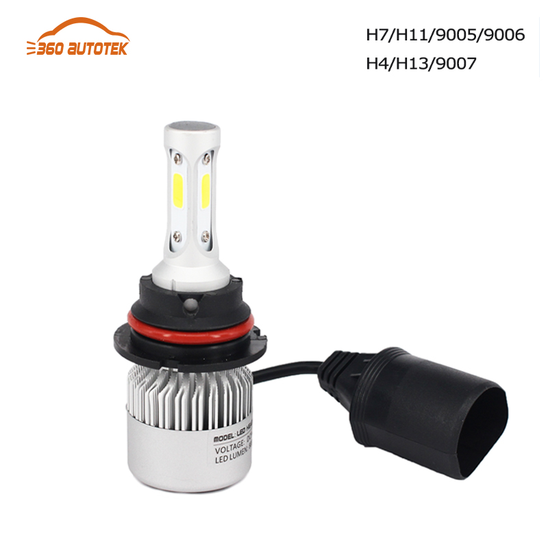 hlxg 9005 HB3 9006 HB4 H11 LED Car Headlight Bulbs High Power Auto Hi/lo High Low 36WX2 White 6000K Repalcement Bi xenon lamps<br><br>Aliexpress