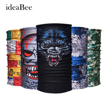 [ideaBee] Bicycle Motorcycle Bandana Headband Variety Turban Hood Magic Headband Scarf Multi Function Seamless Tubular