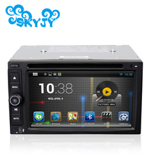 Universal Android Auto Car DVD Player GPS Android 6.0.1 Quad Core 6.2 Inch Black Color Free GPS Card 2 Din 2017 New Sales(China)