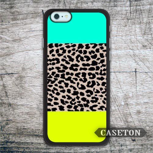 Mint Yellow Leopard Print font b Case b font For font b iPhone b font font