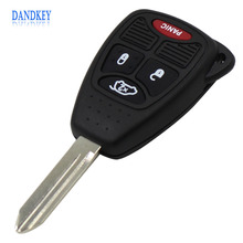 Dandkey 10pcs 4 Button Remote Key Case Shell for Jeep For Chrysler Liberty Sebring Aspen 300 Town PT Cruiser For Dodge Magnum
