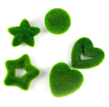 6pcs Artificial Moss Grass Round Ball/Heart/Star Ornaments For Wedding Home Office Decorative Craft Accessory
