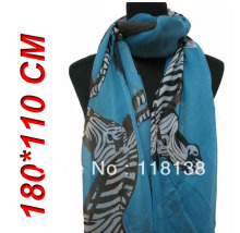 New Style Fashion Women's Big Zebra Animal Print Scarf Shawl Wrap 180cm*110cm, Free Shipping(China)